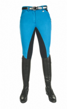 HKM PRO TEAM GLOBAL POCKET FLAP LADIES BREECHES - CORN BLUE